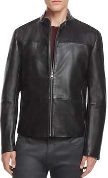 HUGO Lefox Leather Moto Jacket