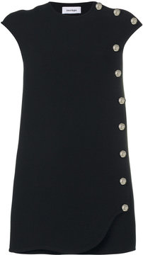 Courreges side button shift dress