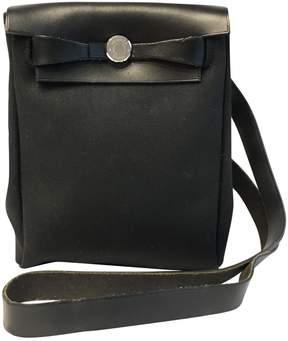 Hermes Herbag leather handbag - BLACK - STYLE