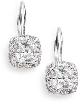Adriana Orsini Women's Crystal Pavé Cushion Drop Earrings