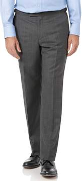 Charles Tyrwhitt Charcoal Classic Fit Tan Stripe British Luxury Suit Wool Pants Size W32 L34