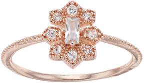 Lauren Conrad Cubic Zirconia Milgrain Ring