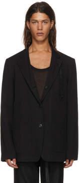 Ann Demeulemeester Reversible Black To Wonder And Begin Albert Jacket
