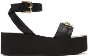 Versace Black Medusa Flatform Sandals