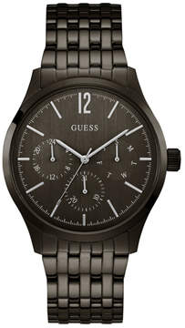 GUESS Black and Gunmetal Multifunction Watch