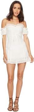For Love & Lemons Anabelle Eyelet Lace-Up Dress Women's Dress