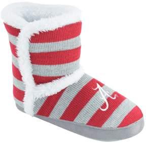 NCAA Women's Alabama Crimson Tide Striped Boot Slippers