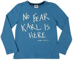 Karl Lagerfeld Printed Cotton Jersey T-Shirt