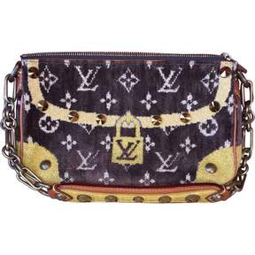 Louis Vuitton Pochette Accessoire velvet clutch bag - BROWN - STYLE