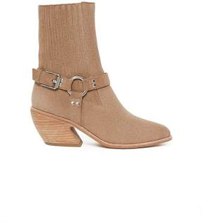Opening Ceremony | Shayenne Suede Harness Ankle Boots | 7 us | Nude
