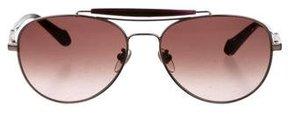 Carolina Herrera Tinted Aviator Sunglasses