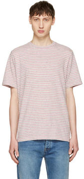 Paul Smith Pink Small Stripe T-Shirt