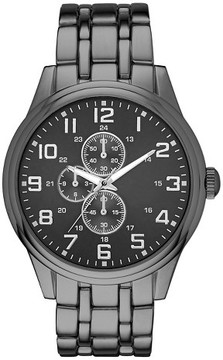 Merona Men's Five Link Bracelet Watch Gun