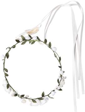 MonnaLisa Satin Crown Headband W/ Flowers