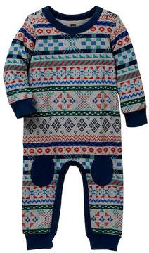 Tea Collection Gryffe Knee Patch Romper (Baby Boys)
