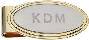 Asstd National Brand Personalized Stepped Two-Tone Money Clip