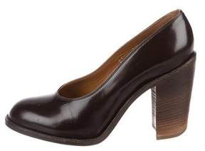Dries Van Noten Leather Round-Toe Pumps
