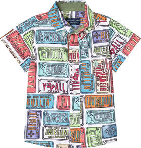 Andy & Evan Multicoloured License Plate Print Shirtzie