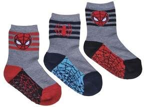 Spiderman Toddler Boys' 3pk Crew Sock - Gray 2T/3T