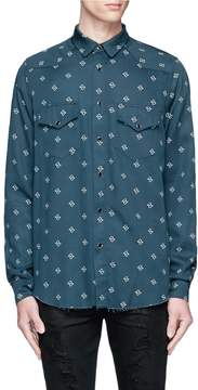 Amiri Paisley print Western yoke twill shirt