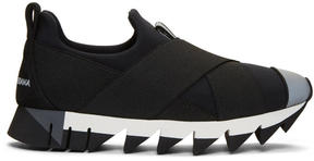 Dolce & Gabbana Black Ibiza Slip-On Sneakers