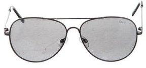 Quay Mirrored Aviator Sunglasses
