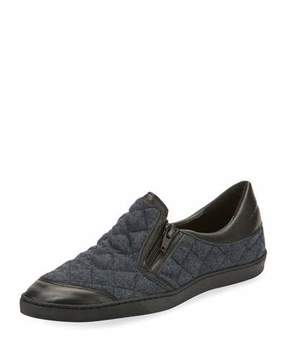Sesto Meucci Frida Novel Quilted Slip-On, Gray