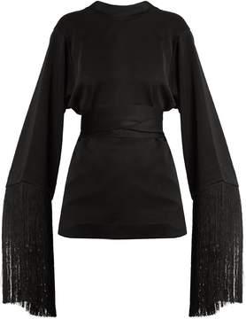 Ellery Lottery round-neck tassel-embellished top