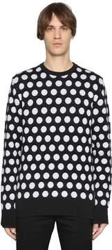 Diesel Black Gold Polka Dot Intarsia Wool Knit Sweater