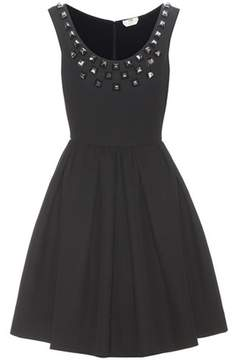 Fendi Embellished cotton dress