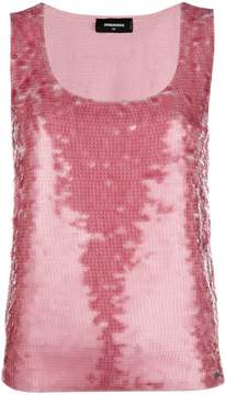 DSQUARED2 sequin vest top
