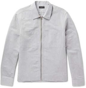Joseph Fenhem Linen And Cotton-Blend Chambray Zip-Up Overshirt