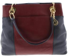 Tommy Hilfiger Womens Pebbled Leather Tote Handbag