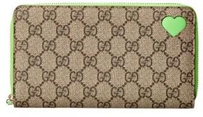 Gucci Beige Gg Supreme Coated Canvas Zip Around Wallet. - BEIGE MULTI - STYLE