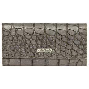 Max Mara Grey Leather Wallets