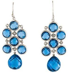 Elizabeth Showers Blue Synthetic Spinel Juliette Chandelier Earrings