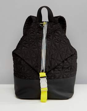 Fiorelli Sport Quilted Zip Detail Backpack in Black