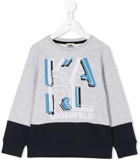 Karl Lagerfeld logo embroidered sweatshirt