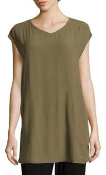 Eileen Fisher Solid V-Neck Tunic