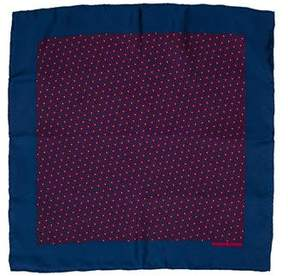 Hermes Printed Silk Pocket Square