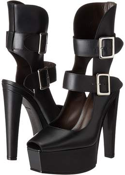 Vera Wang Stacked High Heel with Double Ankle Straps High Heels