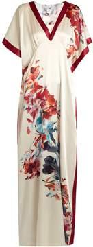 Carine Gilson Wonderland-print silk-satin nightdress