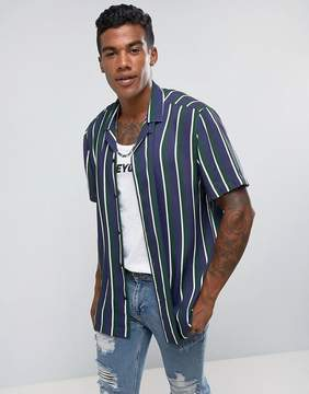 Jaded London Shirt In Stripe Reg Fit