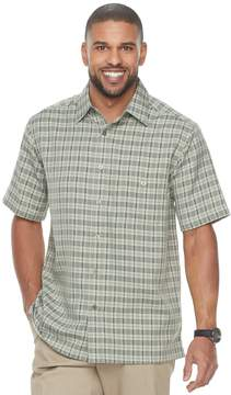 Haggar Men's Classic-Fit Plaid Easy-Care Button-Down Shirt