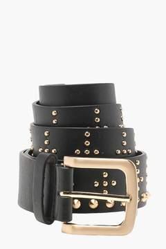 boohoo Cross Studded Boyfriend Belt