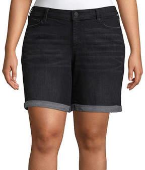 Boutique + + 8 Denim Shorts - Plus