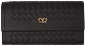 Bottega Veneta Black Intrecciato Flap Wallet