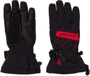 Spyder Black and Red Colour Block Overweb Ski Glove