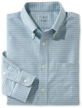 L.L. Bean L.L.Bean Wrinkle-Free Classic Oxford Cloth Shirt, Slightly Fitted Tattersall