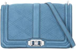 Rebecca Minkoff Love Blue Nubuck Shoulder Bag - BLU - STYLE